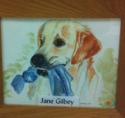 Water Colour Dog Miniature