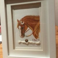 Chestnut Horse Miniature